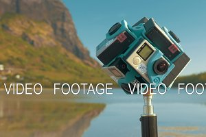 Shooting video of nature 360 degrees using six GoPro cameras