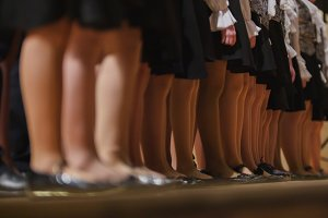 Children girls choir - rehearsal of Academic Song