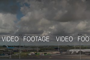 Timelapse of clouds over Amsterdam Airport