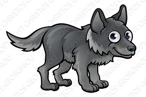 Wolf Cartoon Character