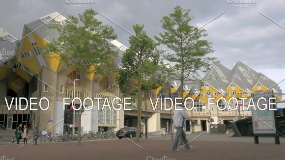 View Of Cube Houses Rotterdam Netherlands