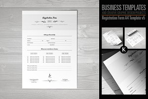 Registration Form Template v5