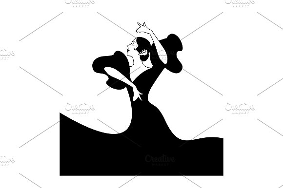 Spanish Flamenco Dancer Logo
