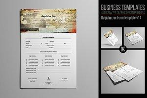 Registration Form Template v14