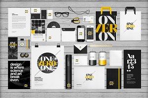 Flat Identity/Branding Mock-ups