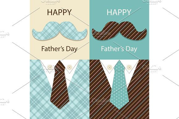 Festive Retro Greeting Card For Father's Day