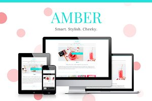 Amber - Girlish WP Theme 30% OFF