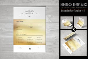 Registration Form Template v15