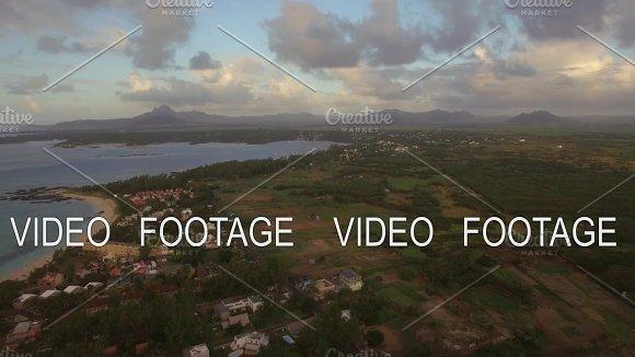 Mauritius Island In Indian Ocean Aerial View