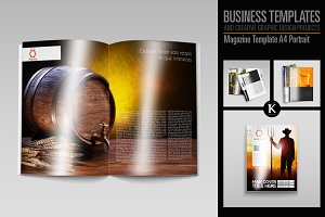 Magazine Template A4 Portrait