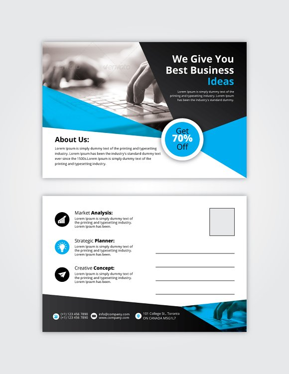 Post Card 11 in Card Templates - product preview 1