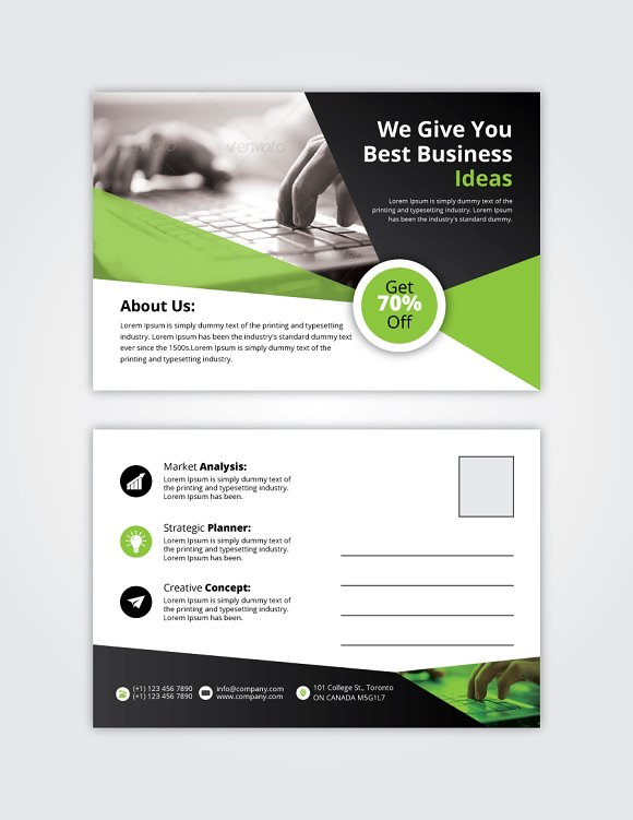 Post Card 11 in Card Templates - product preview 2