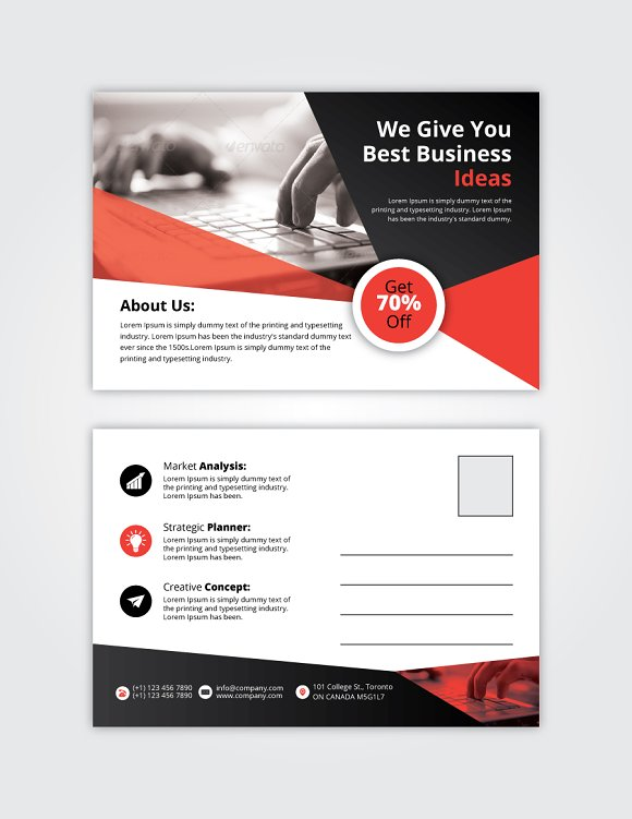 Post Card 11 in Card Templates - product preview 3