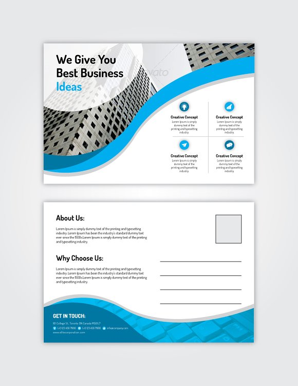 Post Card 12 in Postcard Templates - product preview 1