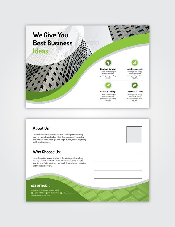 Post Card 12 in Postcard Templates - product preview 2