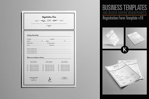 Registration Form Template v10