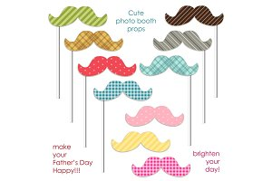 Cute photo booth props to make your Father's Day really happy