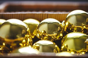 Yellow Christmas balls