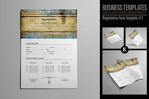 Registration Form Template v11