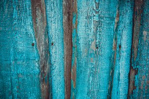 Blue wooden wall texture background