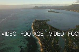 Aerial view of Le Morne Brabant peninsula, Mauritius