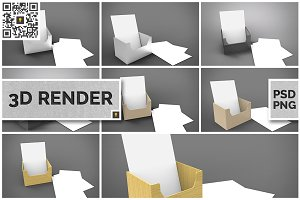 Flyer Holder 3D Render