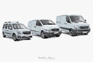 Three Light Commercial Vehicles