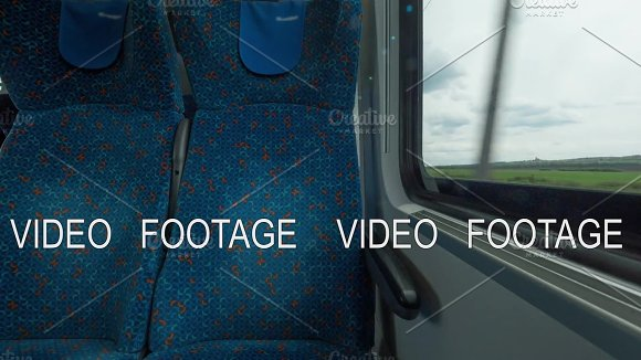 Time Lapse Shot Inside Of Modern Empty Train Wagon With Table Seat Places And Windows Vienna Austria