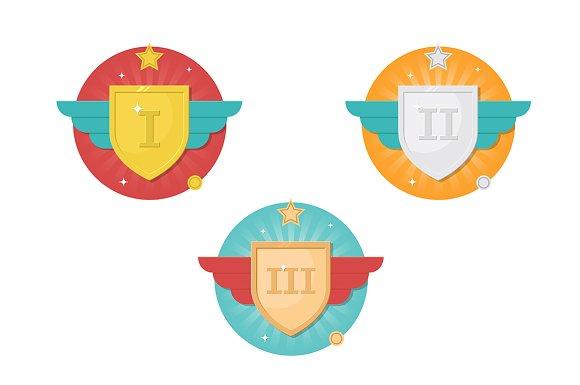 Winner Badges Icon Set