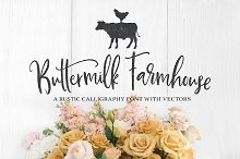 Buttermilk Farmhouse Type & Graphics