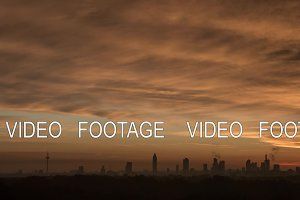 Timelapse of sunrise and clouds over Frankfurt