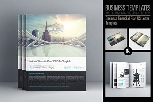 Business Financial Plan US Letter