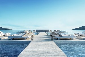 Beach lounge & lagoon front