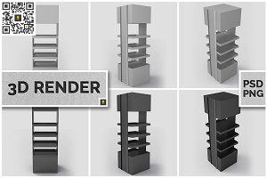 Promotional Store Stand 3D Render