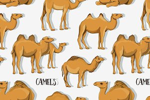 Camel Silhouettes set pattern