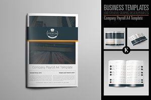 Company Payroll A4 Template