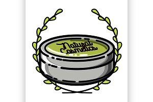 natural cosmetics emblem