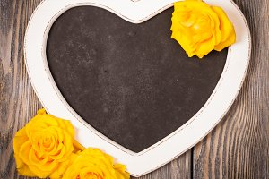 Heart shape chalkboard
