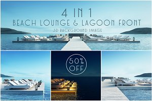 Beach lounge & lagoon front - 50%off