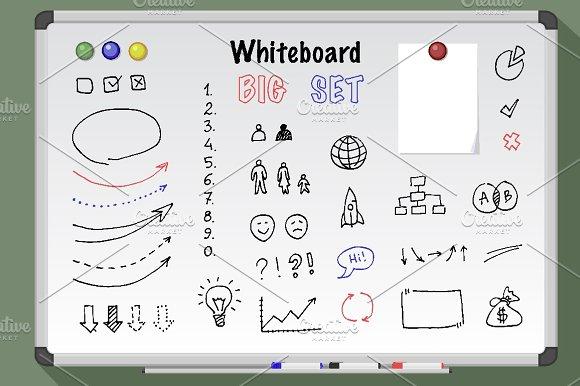 Big Whiteboard Set