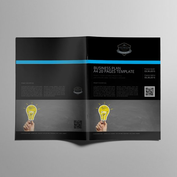 Business Plan A4 20 Pages Template Templates Creative Market