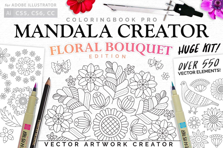 Floral Bouquet Mandala Creator Plug Ins Creative Market