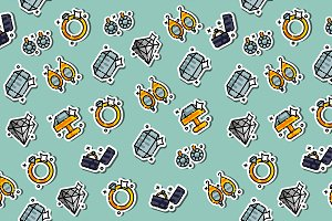 Colored jeweler pattern