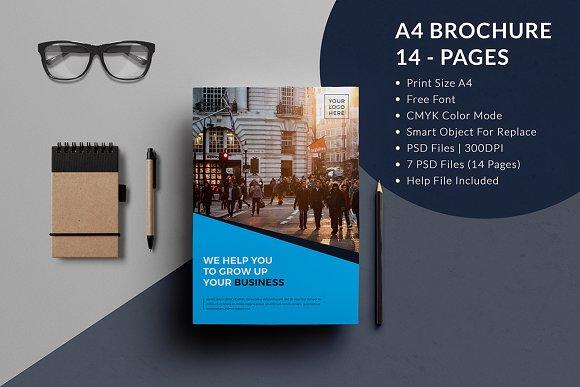 a4 business brochure template brochure templates creative market
