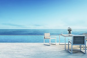 Beach dining set
