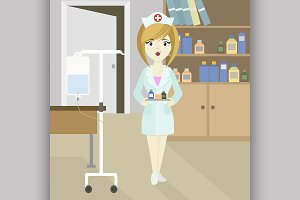 Medical doctor nurse girl