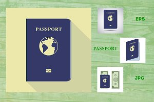 Passport  icon illustration