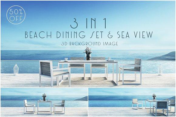 Beach Dining Set Sea View