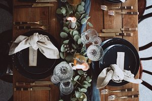 Vintage wedding table decoration