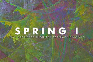 Spring I - Fractal Background Art